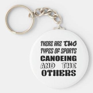 Chaveiro Há dois tipos de Canoeing e de outro dos esportes