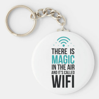 Chaveiro Há mágico no ar chamado Wi-Fi