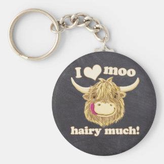Chaveiro Hamish pequenino ama o MOO peludo muito! Vaca das