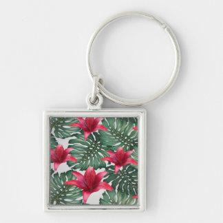 Chaveiro Hawaiian tropical adorável Hibiskus da palma