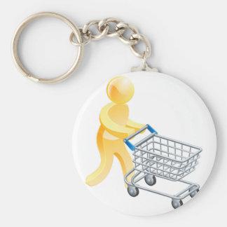 Chaveiro Homem do ouro do trole da compra