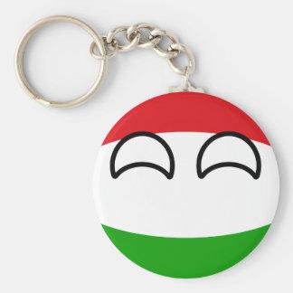Chaveiro Hungria Geeky de tensão engraçada Countryball