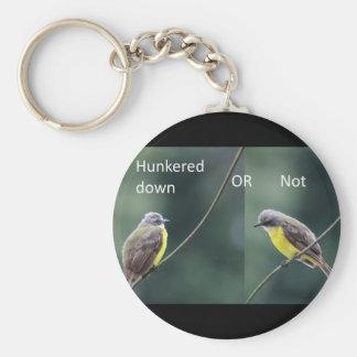 Chaveiro hunkered para baixo ou não o pássaro