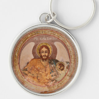 Chaveiro ícone baptista da igreja ortodoxa da religião de