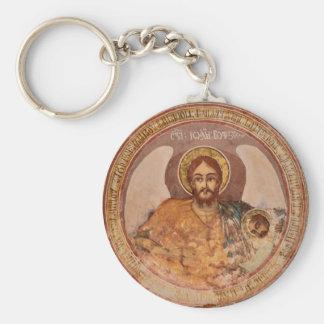 Chaveiro ícone baptista o da igreja ortodoxa da religião de