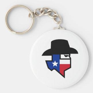 Chaveiro Ícone da bandeira de Texas do bandido