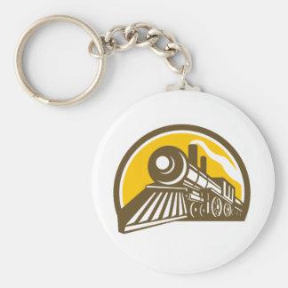 Chaveiro Ícone do trem da locomotiva de vapor