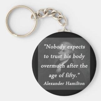 Chaveiro Idade de cinqüênta - Alexander Hamilton
