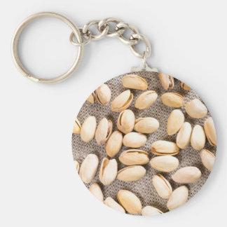 Chaveiro Ideia superior de um grupo de pistachios salgados