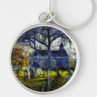 Chaveiro Igreja oca sonolento Van Gogh
