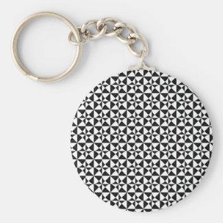 Chaveiro iIllusion geométrico preto e branco