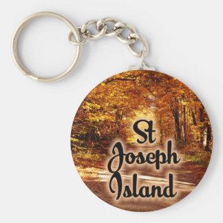 Chaveiro Ilha de St Joseph com cores da queda