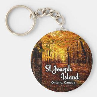 Chaveiro Ilha de St Joseph, queda de Ontário Canadá