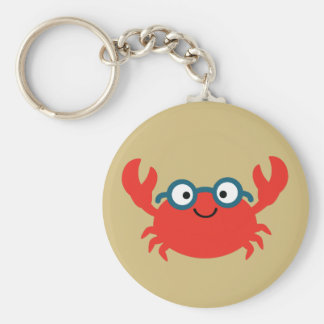 Chaveiro Ilustração bonito do caranguejo de Specky