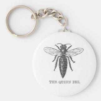 Chaveiro Ilustração da abelha de rainha do vintage