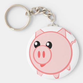 Chaveiro Ilustração de um porco dos desenhos animados