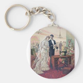 Chaveiro Ilustração dos noivos do vintage
