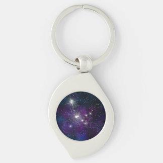 Chaveiro Imagem bonita da noite estrelado da galáxia do