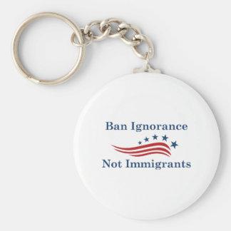 Chaveiro Imigrantes da ignorância da proibição não