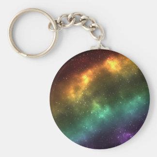 Chaveiro Impressão da galáxia do espaço do arco-íris