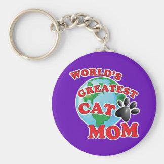 Chaveiro Impressão da pata da mamã do gato do mundo o