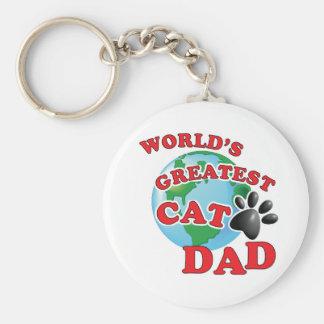 Chaveiro Impressão da pata do pai do gato do mundo o grande