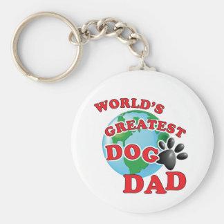 Chaveiro Impressão da pata do pai do grande cão do mundo