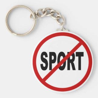 Chaveiro Indicação permitida esporte do sinal de /No do