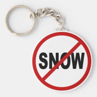 Chaveiro Indicação permitida neve do sinal de /No da neve
