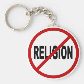 Chaveiro Indicação permitida religião do sinal de /No da