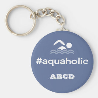 Aquaholic swimming slogan personalised initials