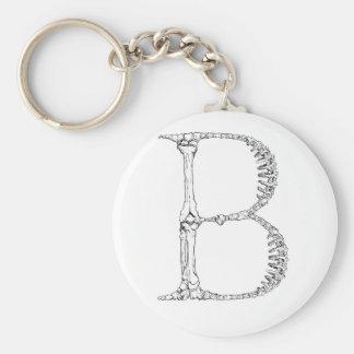 Chaveiro Inicial do osso da letra B