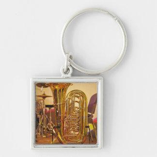 Chaveiro Instrumento de bronze da tuba