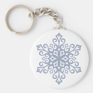 Chaveiro Inverno do design do floco de neve