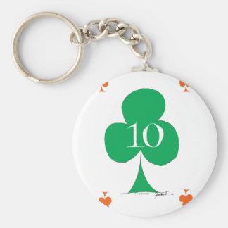 Chaveiro Irlandês afortunado 10 dos clubes, fernandes tony