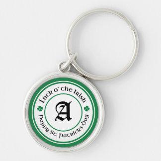 Chaveiro irlandês do monograma do St. Patricks da
