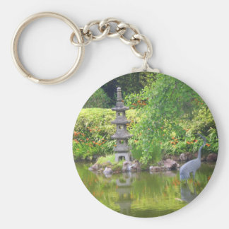 Chaveiro japonês da lagoa #5 do jardim de chá de