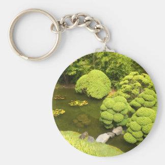 Chaveiro japonês da lagoa #6 do jardim de chá de