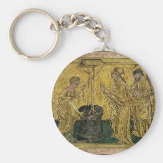 Chaveiro Jesus e a mulher do samaritano no poço
