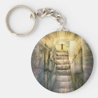 Chaveiro Jesus na ressurreição vazia da páscoa do túmulo