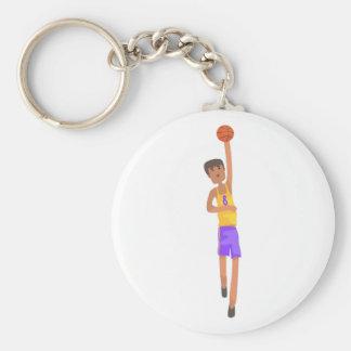 Chaveiro Jogador de basquetebol com a etiqueta da ação da