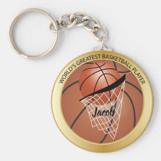 Chaveiro Jogador de basquetebol do mundo o grande