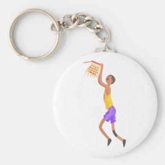Chaveiro Jogador de basquetebol que pendura na etiqueta da