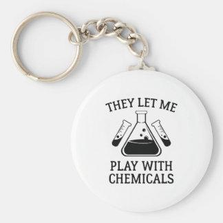 Chaveiro Jogo com produtos químicos