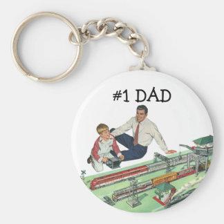 Chaveiro Jogo do dia dos pais, do pai e do filho do vintage