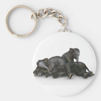 Chaveiro jogo pequeno bonito dos elefantes do bebê