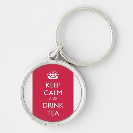 Chaveiro keep calm and drink tea rosa