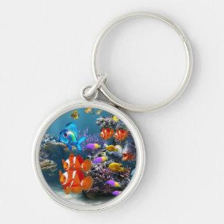 Chaveiro keyring bonito dos peixes do aquário