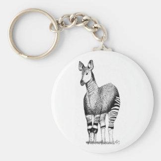 Chaveiro Keyring da arte do Okapi