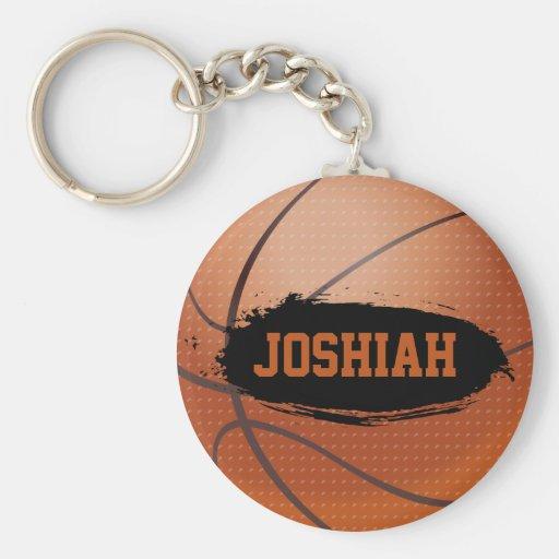 Chaveiro/Keyring do basquetebol do Grunge de Joshi Chaveiro